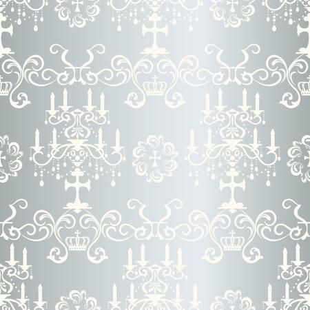 Seamless silver design pattern Stock Vector - 10651413
