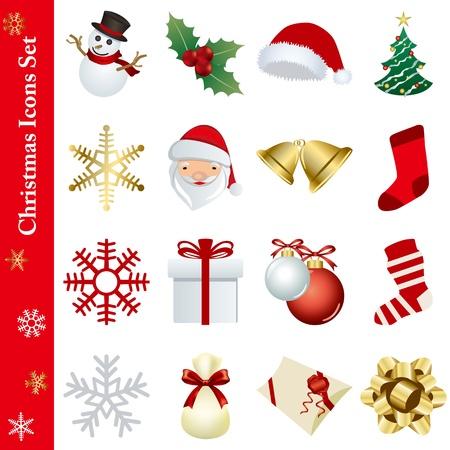 Christmas icons set  イラスト・ベクター素材