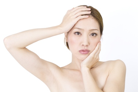 chinese face: Beautiful asian woman