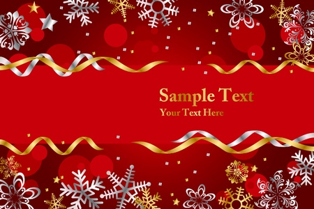Luxury snow frame Vector