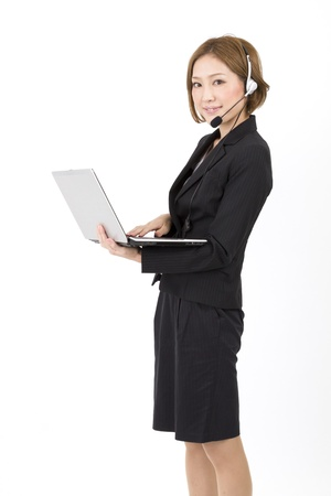 Beautiful asian business woman  photo