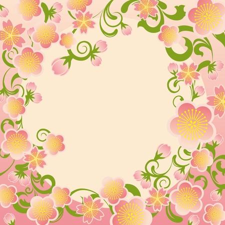 flores chinas: Cerezos en flor marco