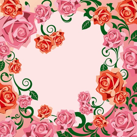 Rose decoration frame Vector
