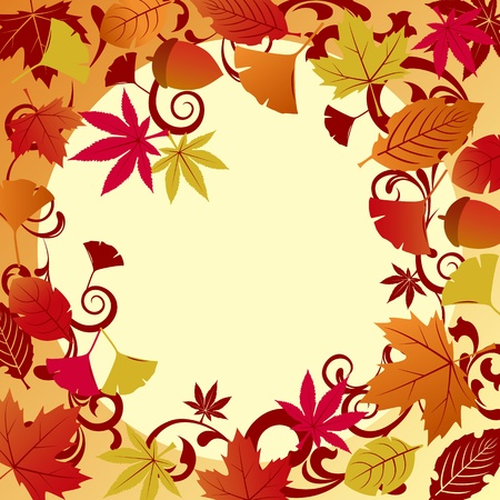 fallen leaves: Fallen leaves frame