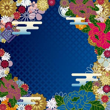 Japanese traditional frame Illustration