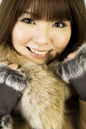 Beautiful winter woman Stock Photo - 11759233