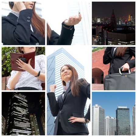 Business collage photo