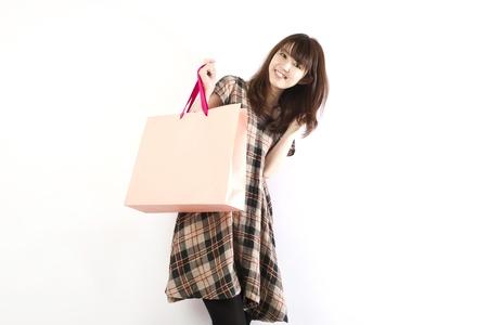 Shopping asian woman. Shopping image.