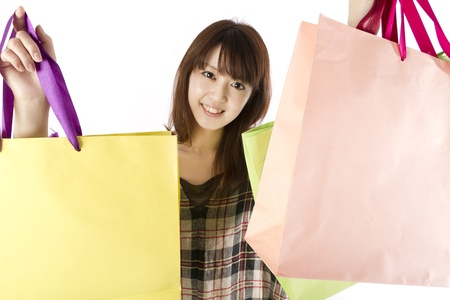 Shopping asian woman. Shopping image. photo