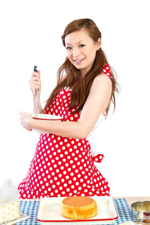 Beautiful cooking woman photo