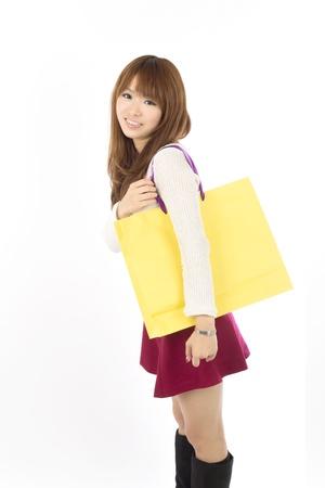 Shopping asian woman  photo