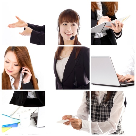 ad: Business collage Stock Photo