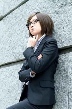 Beautiful asian business woman  写真素材