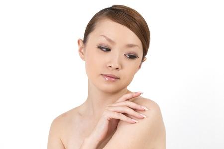 아름 다운 아시아 여자 스톡 콘텐츠