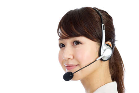Beautiful business operator. Portrait of asian woman. Stock Photo - 12296612