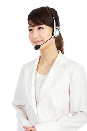 Beautiful business operator. Portrait of asian woman. photo