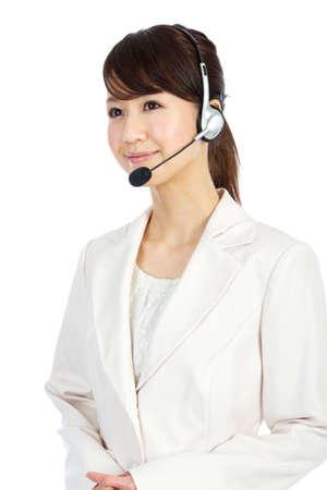 Beautiful business operator. Portrait of asian woman. Stock Photo - 12296614