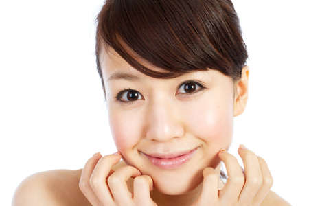 Beautiful young woman. Portrait of asian woman. photo