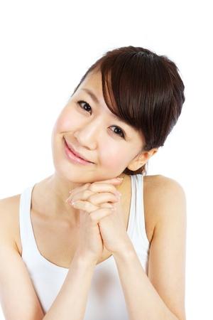 Beautiful young woman. Portrait of asian woman. 版權商用圖片