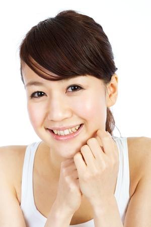 아름 다운 젊은 여자. 아시아 여자의 초상화입니다.
