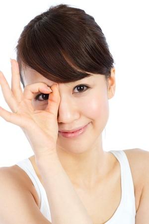 Beautiful young woman  Portrait of asian woman