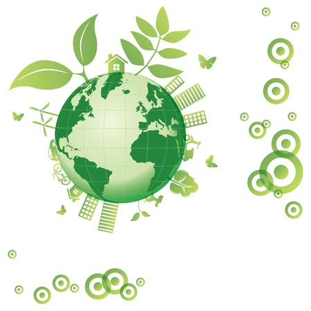 Ecology earth Vector