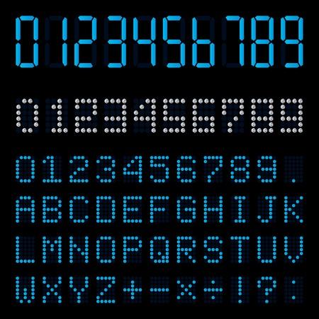 display type: Digital number Illustration