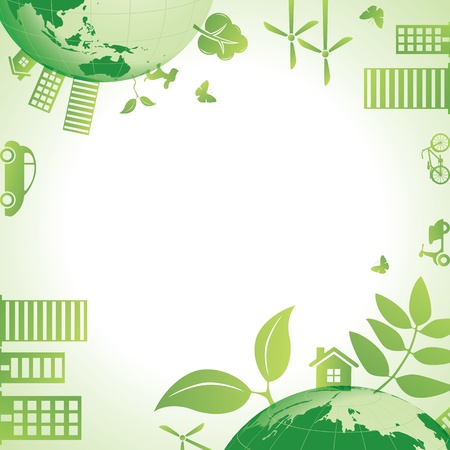 green recycling: Ecology frame