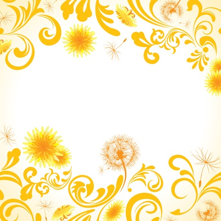 Dandelion frame  Illustration vector   Stock Vector - 12681032