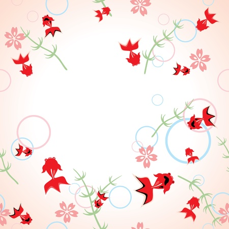 Seamless asian pattern  Illustration vector  Vector