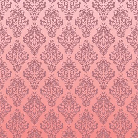 シームレスなピンクの花柄  イラスト・ベクター素材