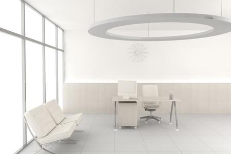 White modern office 写真素材