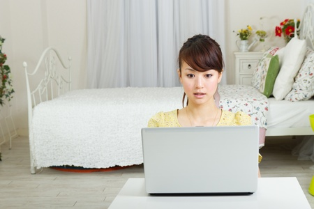 Beautiful woman relaxing in the room Stock Photo - 13133665