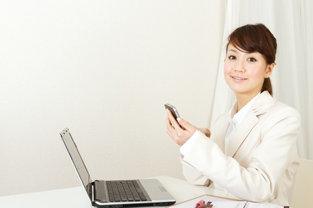 Beautiful business woman  Portrait of asian woman  photo