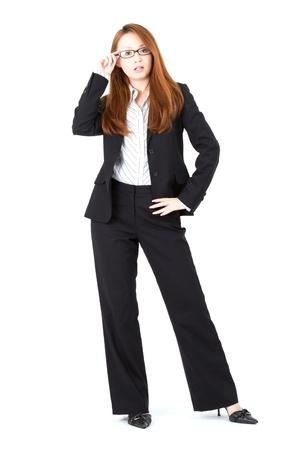 the whole body: Beautiful business woman  Portrait of asian woman  Stock Photo