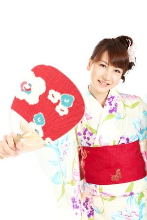 Beautiful kimono woman  Portrait of asian woman Stock Photo - 13366323