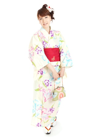 japanese kimono: Beautiful kimono woman  Portrait of asian woman  Stock Photo