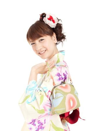 Beautiful kimono woman  Portrait of asian woman Stock Photo - 13245373