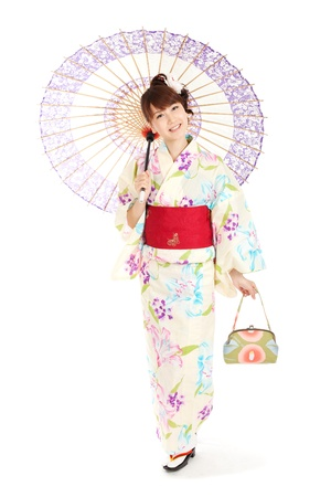 Beautiful kimono woman  Portrait of asian woman Stock Photo - 13245375