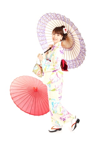 Beautiful kimono woman  Portrait of asian woman  Stock Photo - 13245363