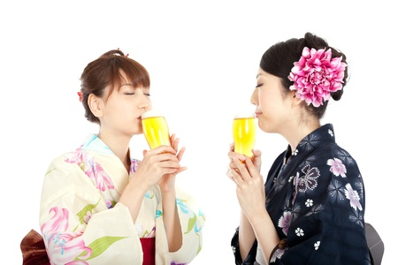 Beautiful kimono women  Portrait of asian woman Stock Photo - 13259784