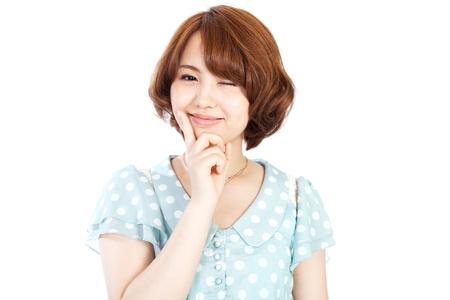 美しい若い女性のアジアの女性の肖像画