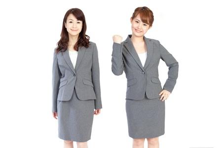 the whole body: Beautiful business women Stock Photo