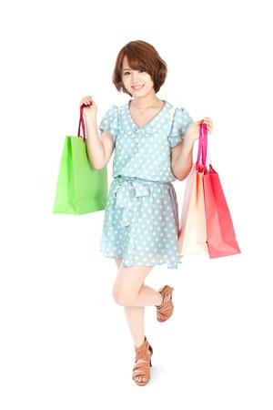 asian girl shopping: Beautiful shopping woman