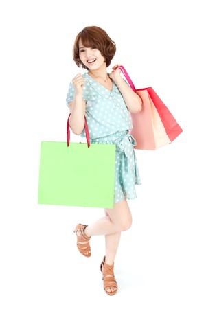 korean girl: Beautiful shopping woman