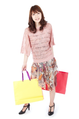 the whole body: Beautiful shopping woman
