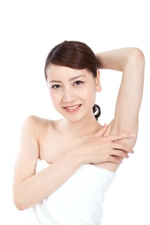 cuerpo femenino perfecto: Hermosa mujer asiática joven