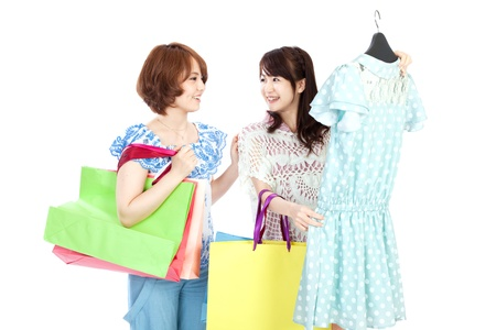 Beautiful shopping women photo