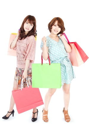 korean fashion: Beautiful shopping woman