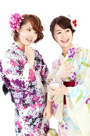 Beautiful kimono women  Portrait of asian women Stock Photo - 13534830
